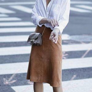 Maxmara suede leather skirt